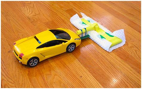 Bestuurbare auto vloer veger