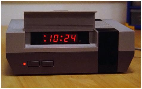 NES alarm klok