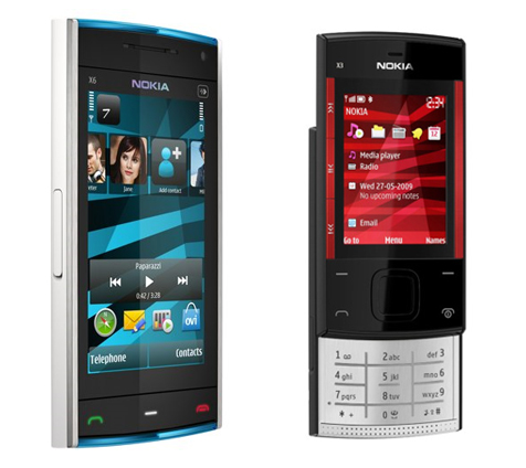 Nokia X6 en X3