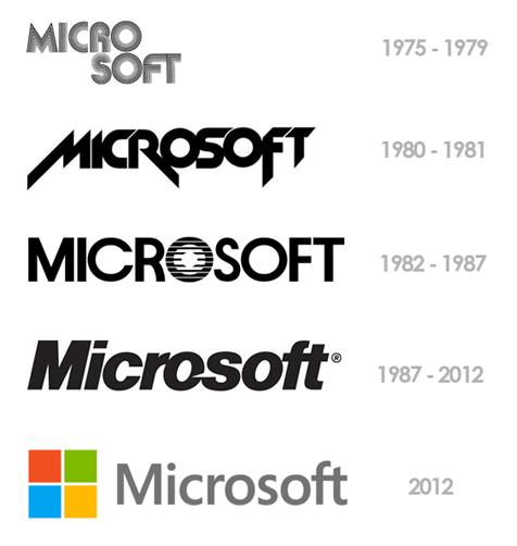 Microsoft logo geschiedenis