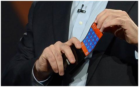 Samsung smartphone met buigbaar scherm